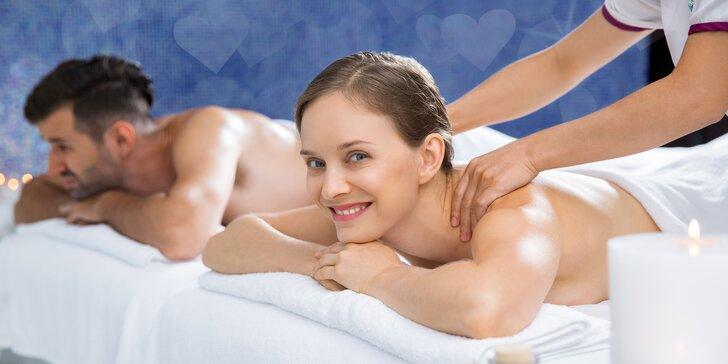 Láskyplné uvolnění ve dvou: 60minutová párová masáž dle vlastního výběru