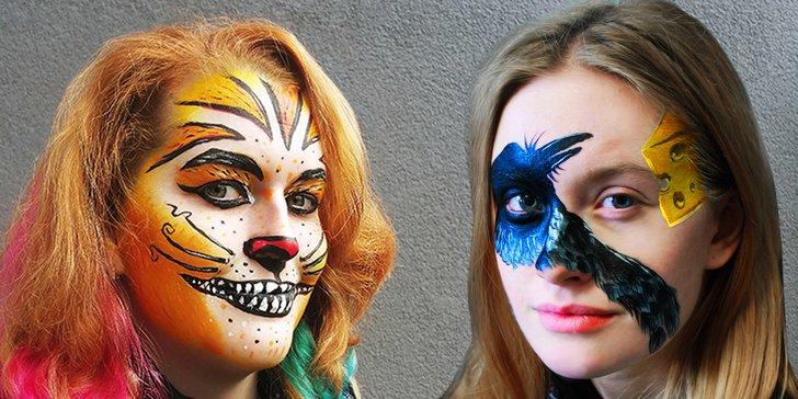 Nastavte tvář umění: malování na obličej pro dospělé a děti i profi focení