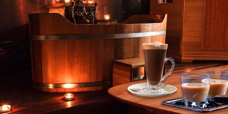Bylinná lázeň s vůní čokolády a horká čokoláda nebo Baileys pro dva