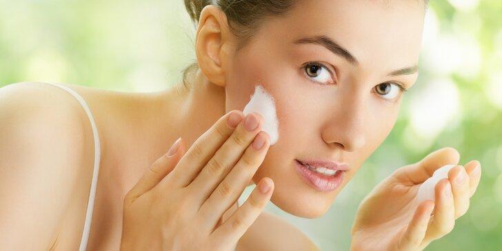 Hodinové odborné ošetření aknózní pleti přírodní kosmetikou