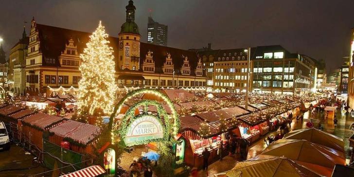 Lipsko: advent v historických kulisách centra města, až 250 nazdobených stánků