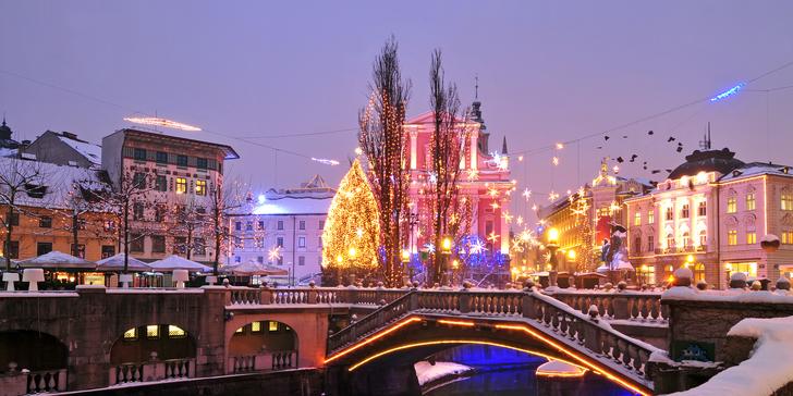 Slovinské láznění a adventní trhy v Lublani s ubytováním ve 3* hotelu a průvodcem