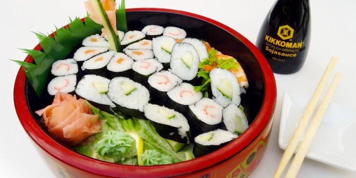 Vějíř čerstvého sushi pro 1 či 2: okuste oblíbený klenot asijské kuchyně