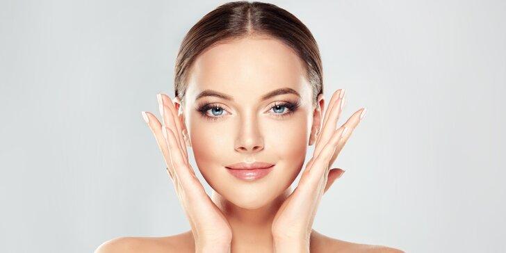 Kosmetické ošetření pleti s masáží dekoltu a obličeje + líčení jako dárek