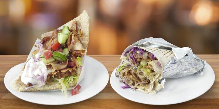 Jídlo s sebou pro 1 či 2 osoby: Kebab a pití z bistra na náměstí Jiřího z Poděbrad