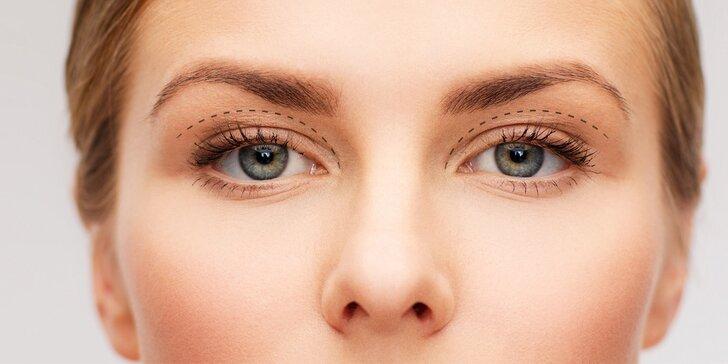 Eliminace nadbytečné kůže na horních či dolních očních víčkách