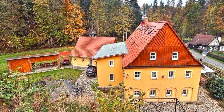 Dovolená v malebné přírodě Českého Švýcarska s polopenzí a lahví vína