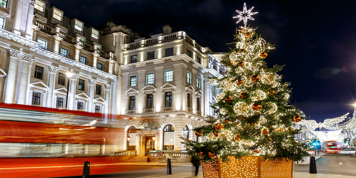 Předvánoční nákupy v Londýně: autobusem a trajektem + ubytování na 1 noc