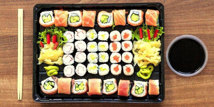 Asie do vašeho obýváku nebo kanceláře: rozvoz sushi setů s 18 nebo 40 kusy