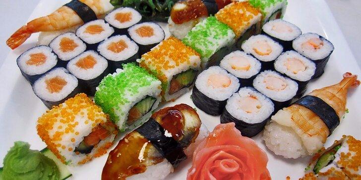 Srolované asijské pochoutky: barevné sushi sety pro gurmány