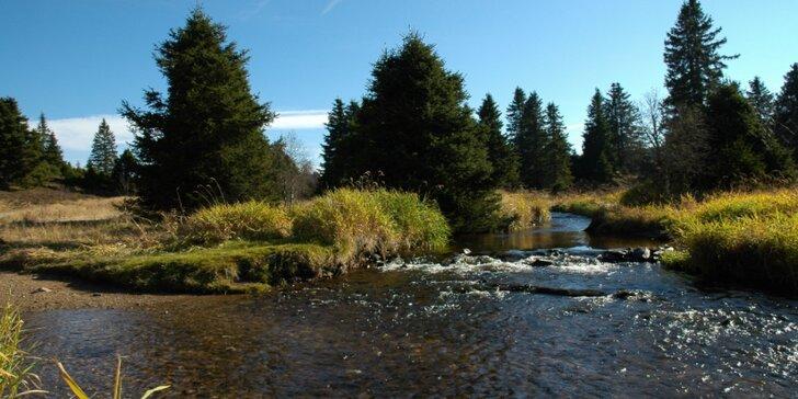 Báječný podzim na Šumavě s vydatnou polopenzí a saunou pro pár i rodinku