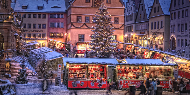 Poznejte kouzlo adventu v bavorských městech Vánoc: Rothenburg a Würzburg