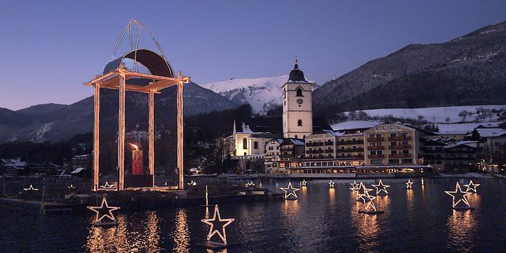 Advent na jezeře Wolfgangsee, Berchtesgaden, Salzburgu a kaple Tiché noci