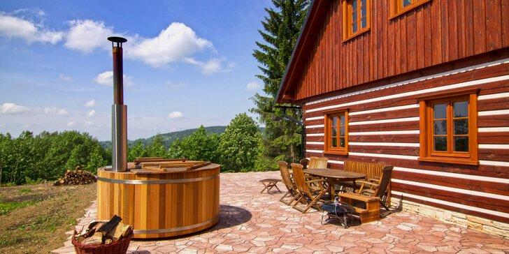 Kouzelná roubenka v Orlických horách s wellness, grilem a zábavou