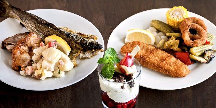 Večerní fish & grill raut na lodi: 3 hodiny neomezené konzumace pro 1 nebo 2