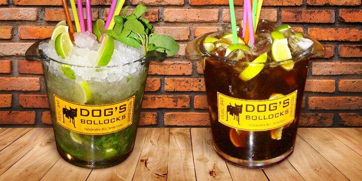 Párty v Dog's Bollocks: maxi Cuba Libre nebo Mojito, občerstvení i balonky