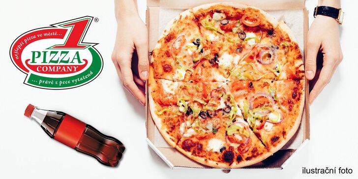Celá pizza a nápoj dle výběru v pražském metru nebo na libereckém nádraží