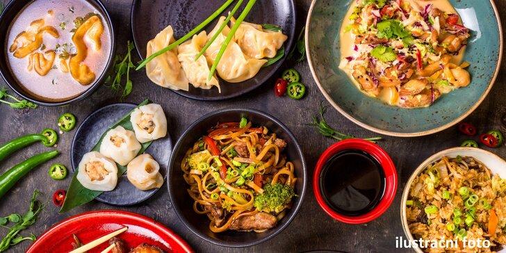 Vzhůru do Hongkongu: 4chodové orientální menu pro dva v Lotos Restaurant