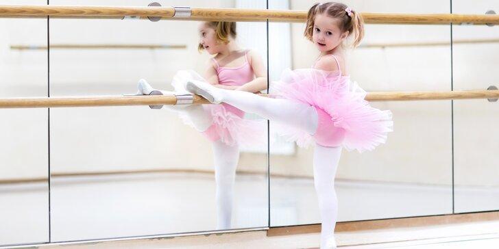 Pololetní taneční kurzy pro děti od 4 do 6 let: mini balet a mini dance