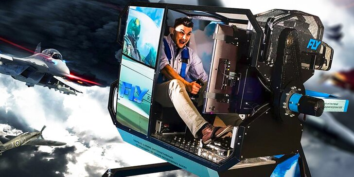 Zažijte lítý boj na leteckém simulátoru s kabinou otočnou o 360 stupňů