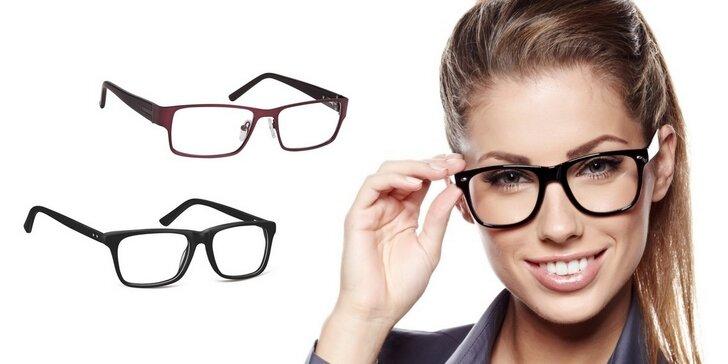 Dioptrické brýlové obruby v hodnotě 1 000 Kč