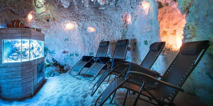 Balíčky vstupů do solné jeskyně: Mořskou solí proti nemocem dýchacích cest i kůže