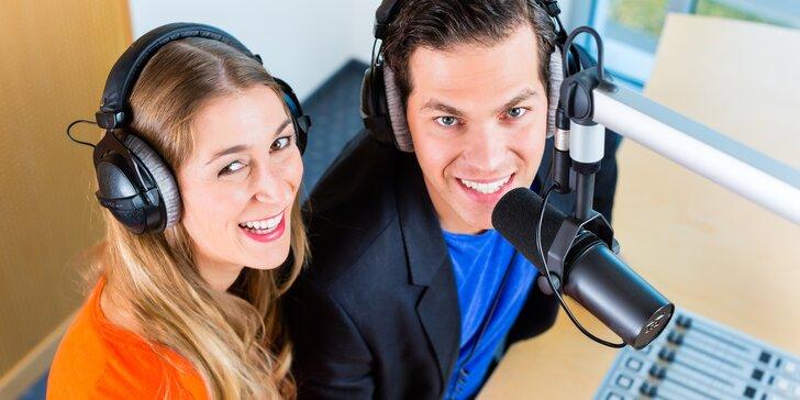 Staňte se moderátorem v rádiu: 3denní kurz s přípravou zpráv i živým vysíláním