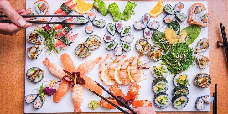 Láska na první sousto: Famózní sushi sety v designové restauraci v srdci města