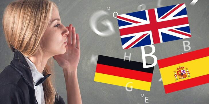 Konverzační kurzy angličtiny, španělštiny nebo němčiny