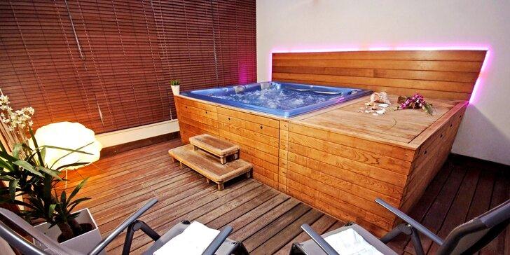 Odpočinek jen pro vás dva: 120 min. v privátní sauně a vířivce i s lahví Prosecca
