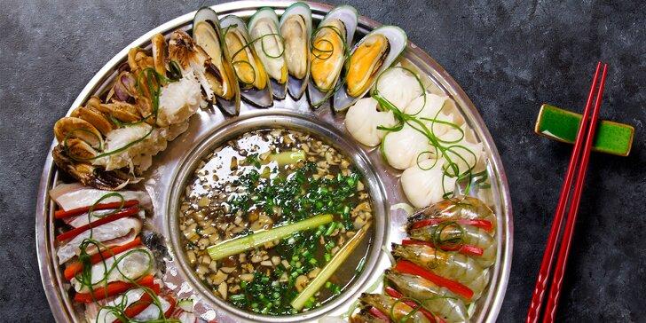 Vietnamské Lau pro pár i menší či větší partu: dary moře si vaříte sami na stole