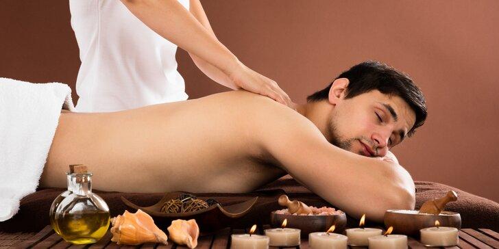 Celotělová masáž včetně rašelinového zábalu pro muže