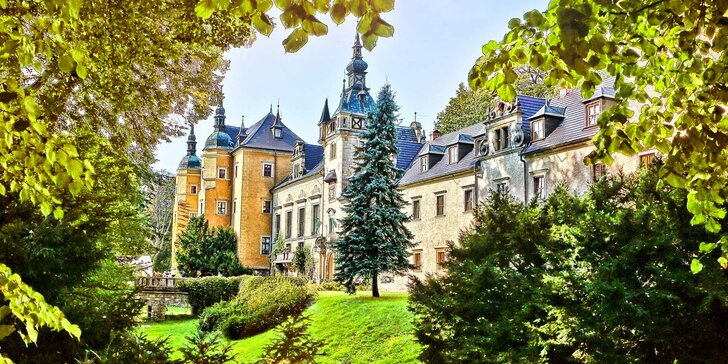 Pobyt pro královský pár – 3 až 4 dny na zámku v Polsku s wellness a polopenzí