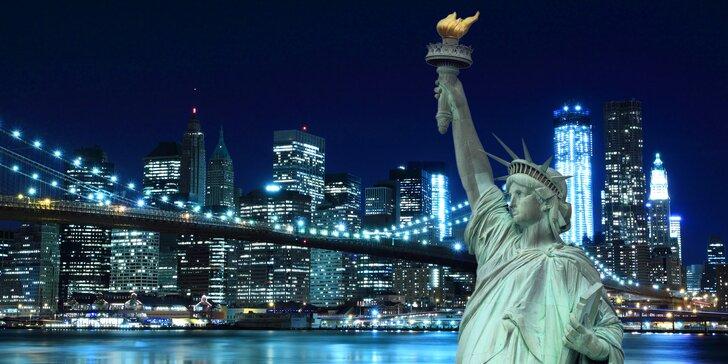 Záloha na letecký zájezd do New Yorku: 4 noci v hotelu a průvodce městem