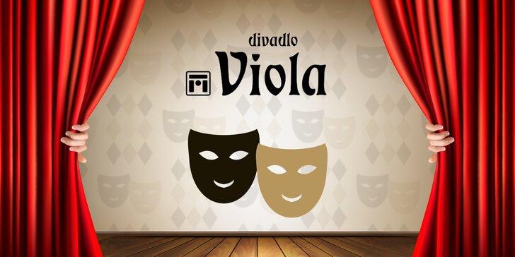 Divadlo Viola: Vstupenky na vybraná představení s 30% slevou
