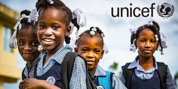 Podpořte s UNICEF děti z rozvojových zemí: tužky, sešity nebo celá školní výbava