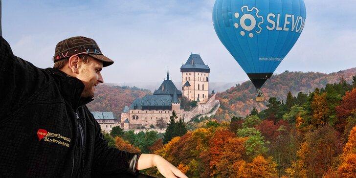 Hodina nebo dvě v oblacích: let horkovzdušným balónem ve dvou i ve skupince