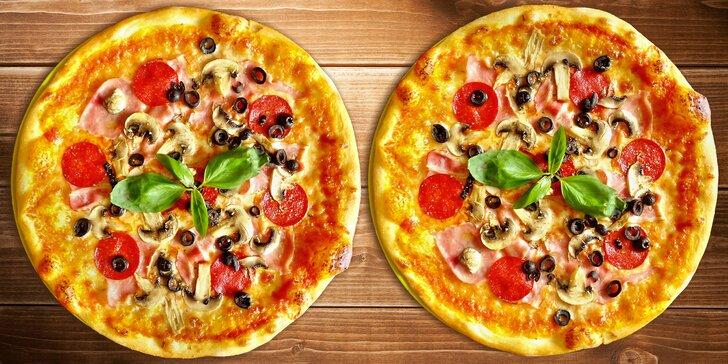 2 poctivé pizzy: z domácího těsta, bez palmového oleje, s vege-variantami na výběr