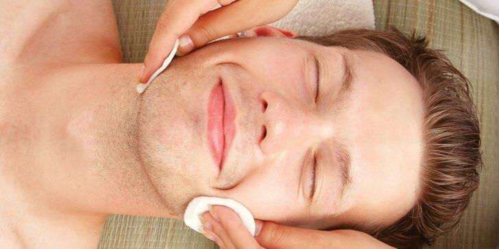 Luxusní kosmetické ošetření pro muže a pány vč. čištění pleti a úpravy obočí