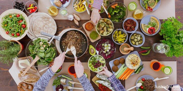 Vegetariánské all you can eat menu: 5 chodů a libovolný počet přidání pro 1 či 2