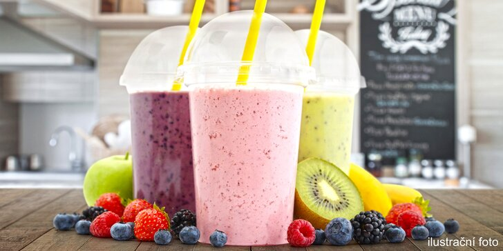 Doplňte vitamíny: 2 mléčné nebo klasické koktejly z fresh baru na Slovanech