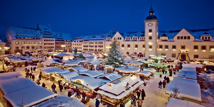 Tradiční slavnost horníků ve Freibergu a prohlídka adventních trhů v Drážďanech