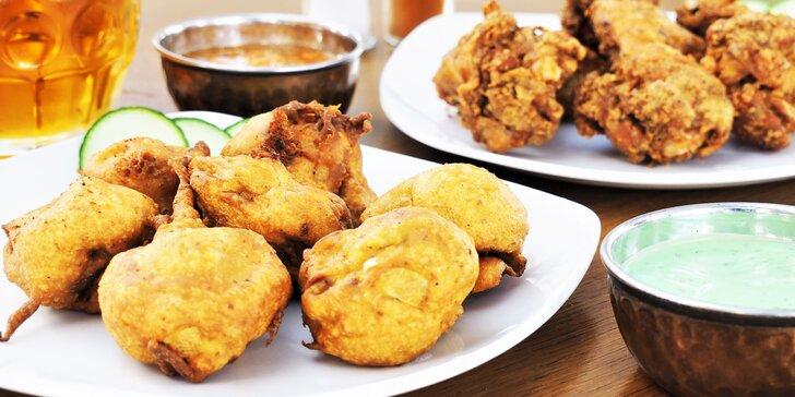 Ochutnejte nepálské dobroty k pivu: kuřecí křídla nebo žampiony v těstíčku