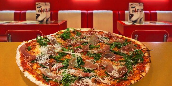 Pořádná porce italského štěstí: 2 pizzy o průměru 42 cm