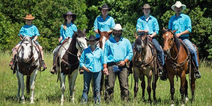 Terapie koněm: odpočinková 60minutová westernová projížďka v koňském sedle