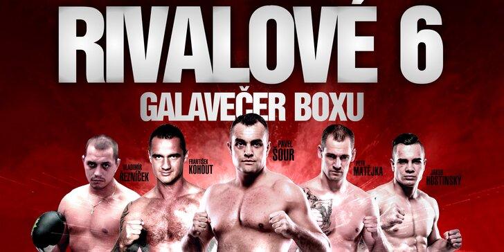 VIP sezení přímo u boxerského ringu na akci Den Rváčů Rivalové 6