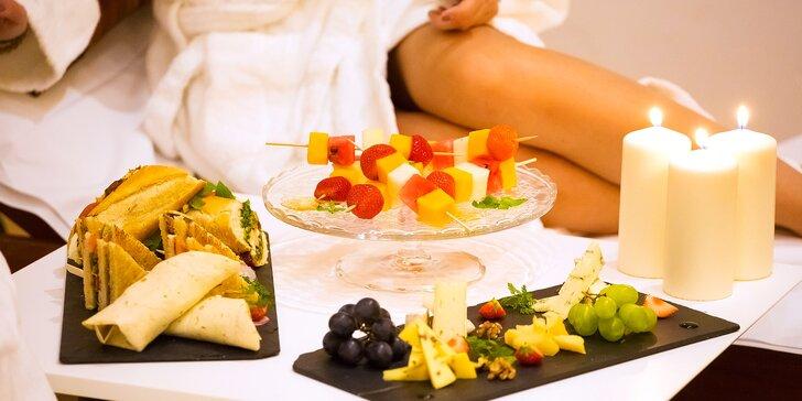 Romance v centru Prahy: 60 či 90 minut ve wellness a degustační menu nebo snack