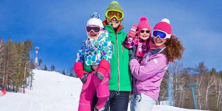 Skvělá zimní lyžovačka v Krušných horách s polopenzí, saunou i bazénem