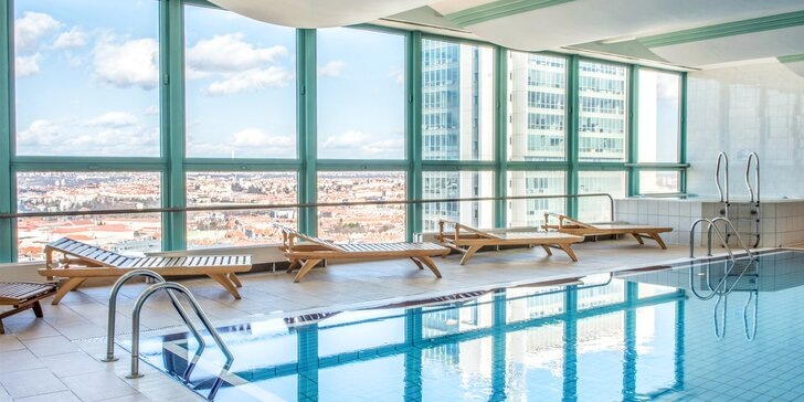 Luxusní ubytování se snídaní a neomezeným wellness ve 4* hotelu Panorama