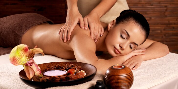Povzbuzující aroma-terapeutická masáž zad v délce 50 minut